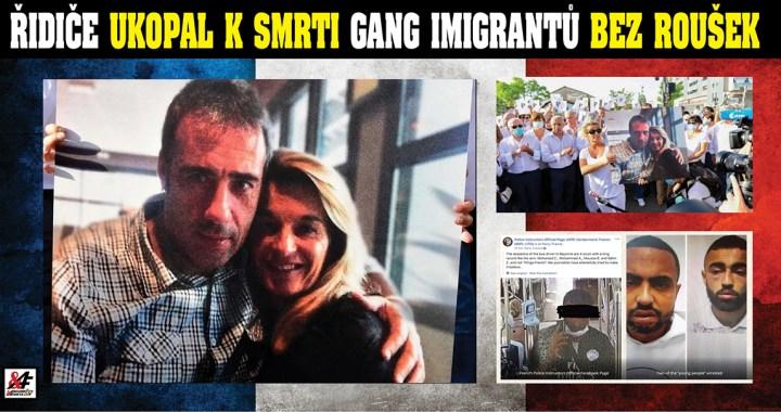 """Oběť koronaviru: Gang pěti muslimských migrantů ukopal bílého řidiče (59) autobusu, protože chtěl, aby si nasadili rouškou. Jeho žena a tři dcery teď pořádají ve Francii """"bílé"""" demonstrace, přidávají se tisíce. Média mlží"""