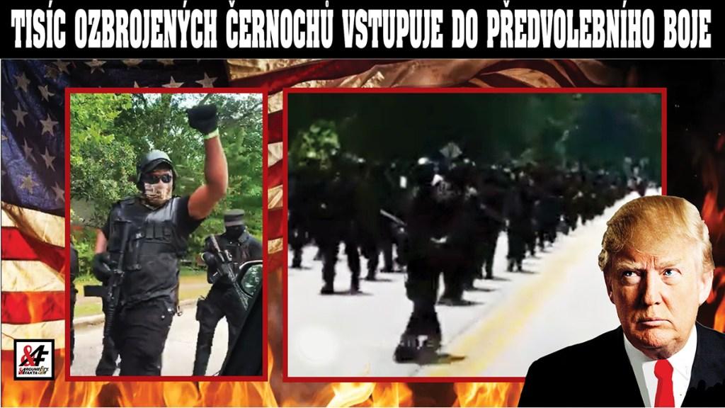 Děsivé: Tisíc po zuby ozbrojených černochů pochoduje k památníku konfederace. 3 x VIDEO. Hnutí Black Lives Matter má vlastní armádu? Začala občanská válka… Vůdce černošských ozbrojenců vyzývá ke střetu