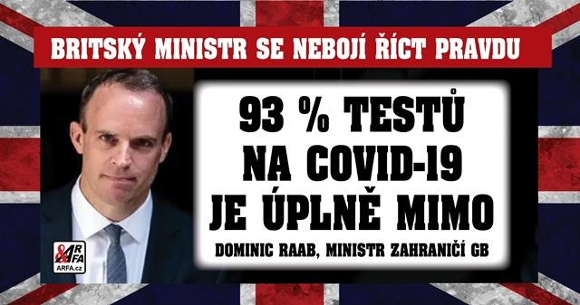 """Falešně pozitivní testy na koronavirus: 93 % je úplně mimo! """"Jen sedm procent testů jsou ti, kteří virus skutečně mají,"""" říká britský ministr zahraničí. Je WHO zločinecká organizace?"""