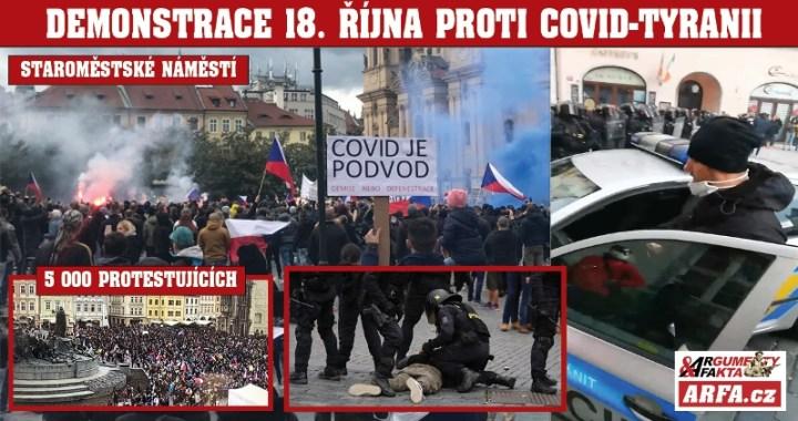 """COVID – MASAKR pod orlojem: """"Policie vyprovokovala demonstranty a ucpala východy jako 17. listopadu 89!"""" tvrdí organizátoři. VIDEO provokatéra. 5 000 lidí, desítky raněných a přidušených plynem"""