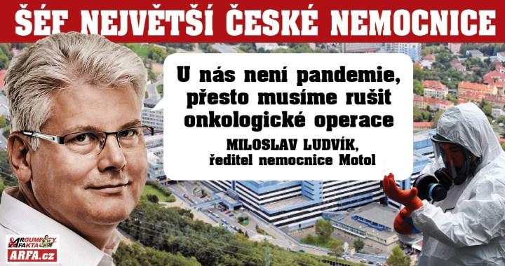 """Děsivé: Zákaz operovat rakovinu! """"Pandemie? Máme tu klid a stovky volných lůžek,"""" šokuje šéf největší české nemocnice Motol. """"Přesto musíme odkládat onkologické operace na rozkaz centra,"""" říká ředitel Ludvík."""