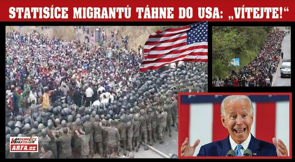 """DĚSIVÉ ZÁBĚRY: Do USA se tlačí statisíce migrantů z jižní Ameriky.  Asi-prezident Biden: """"Zbořím Trumpovu zeď a při udělování občanství migrantům budu velmi štědrý!"""""""