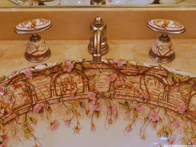 Closeup of Designer sink