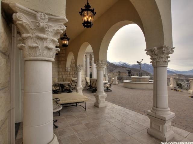 Fabulous columns shaping Lindon home veranda