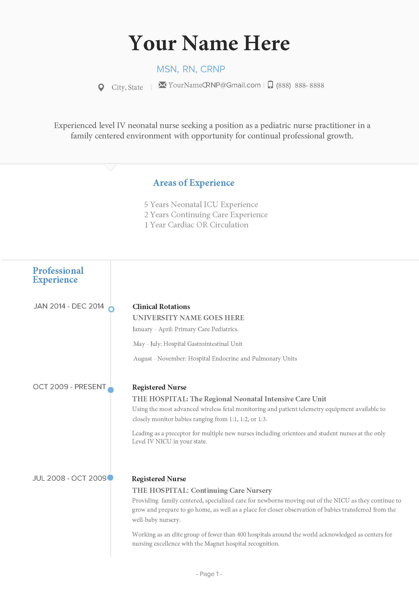 Nurse Practitioner Resume Guide