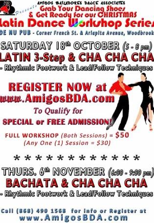 Latin Dance Workshops in Bachata and Salsa (Mambo)