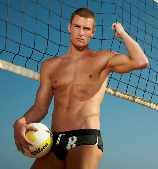 Beach Volleyball in Speedos