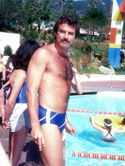 Tom Selleck in a speedo