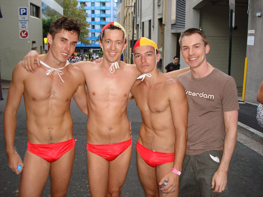 LIfeguards in Red Speedos