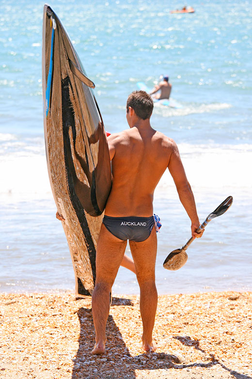 Paddle Board Speedo Guy