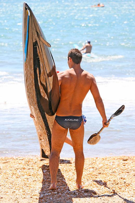 Paddle Board Speedo Guy