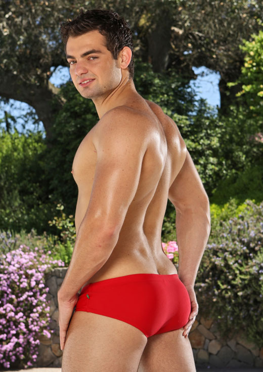 Great Butt in Red Speedo