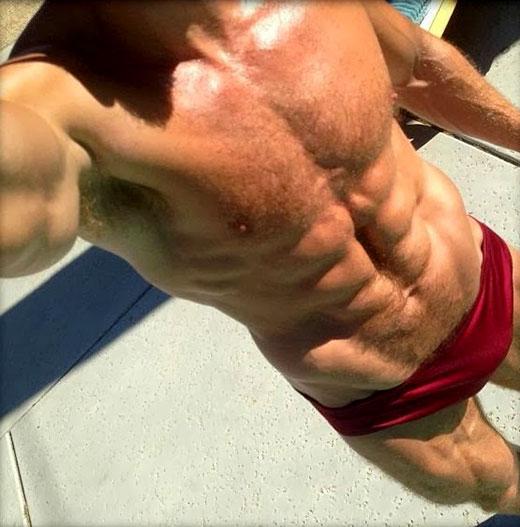 Red Speedo Selfie
