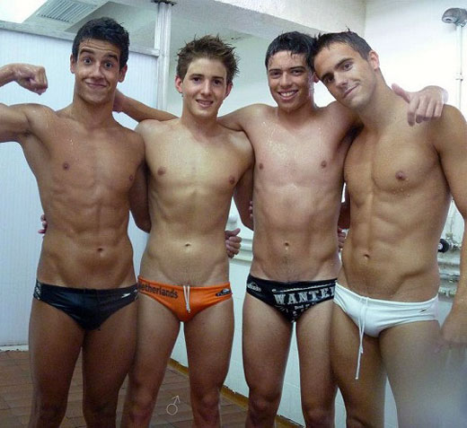 Swimmers in Speedos