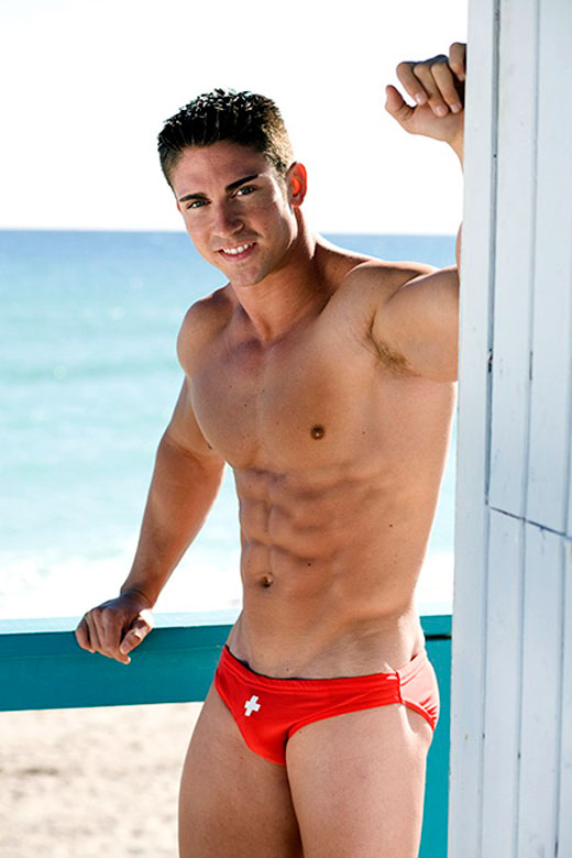 Fit Andrew Christian Swimwear Model