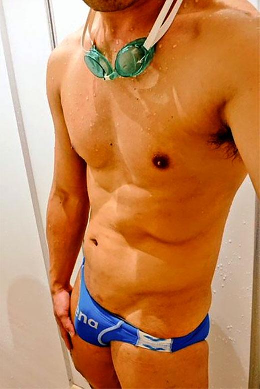 Speedo Swimmer Selfie