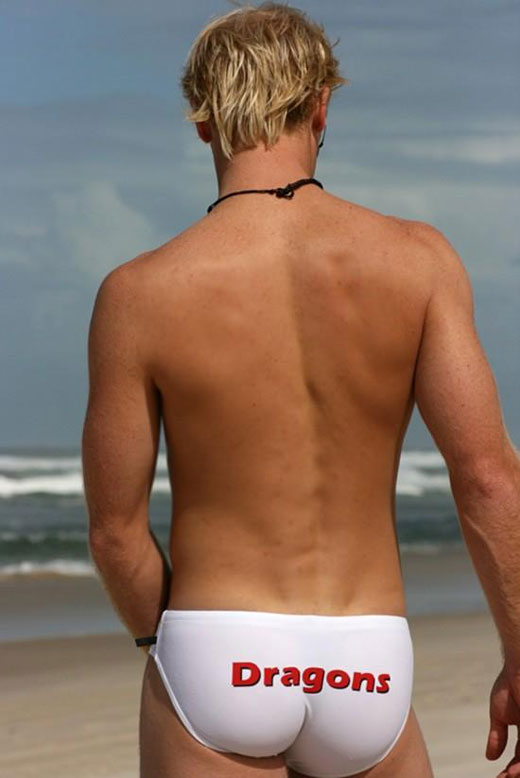 Nice Arse in White Speedos