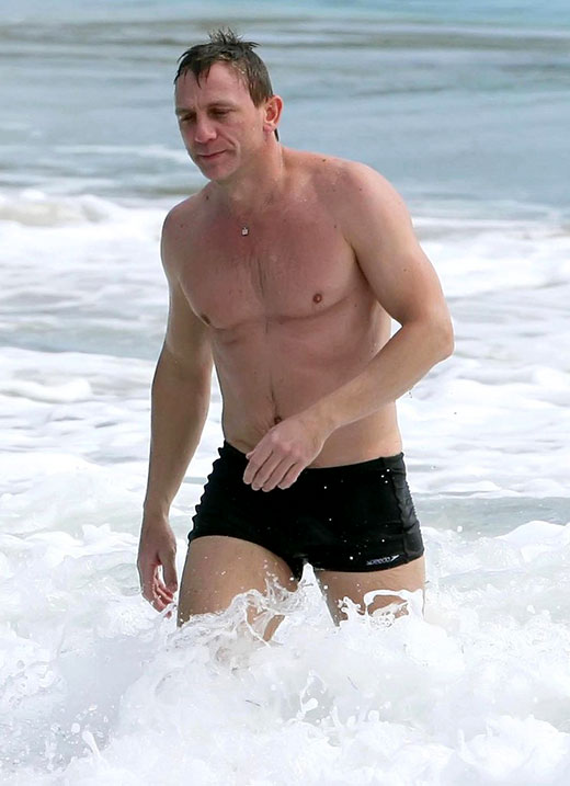 Daniel Craig Square Cut Swimsuit