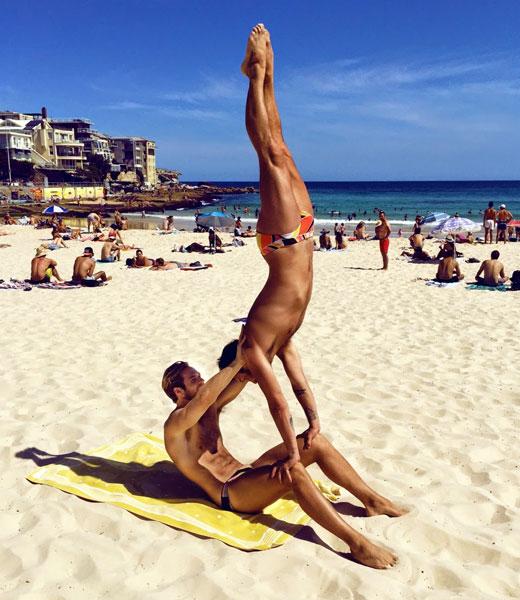 Beach Speedo Yoga