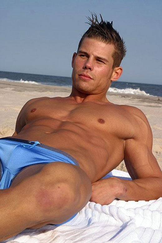 Blue Speedos at the Beach