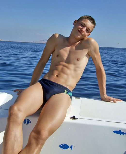 Boating in Speedos