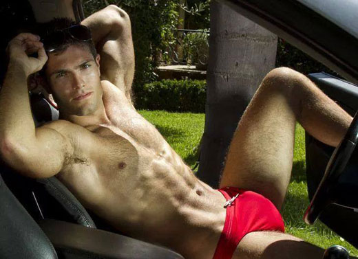 Driving in Speedos