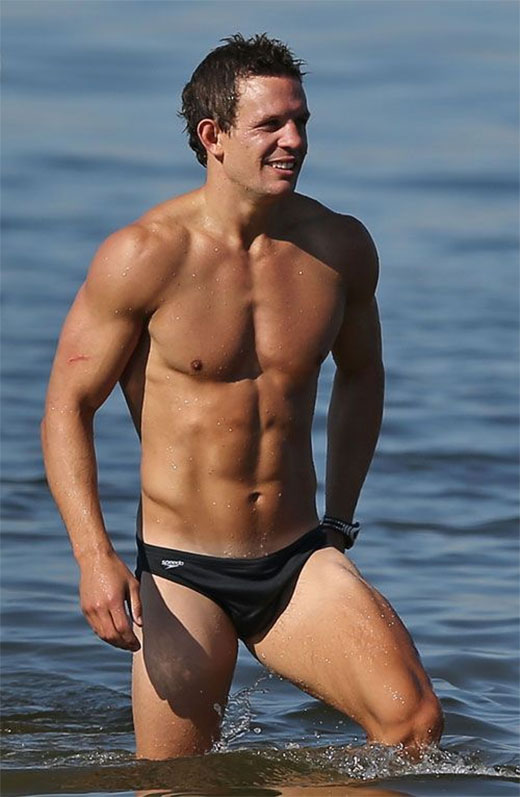 Luke Ball in Speedos
