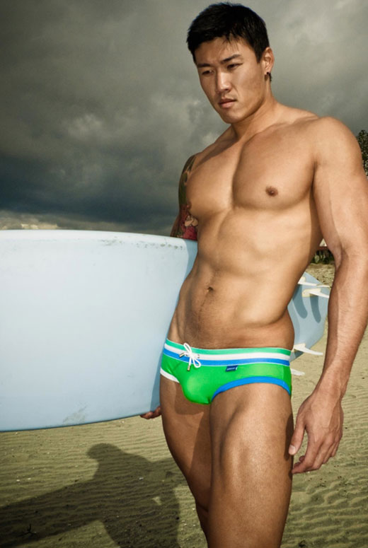 Asian Speedo Surfer