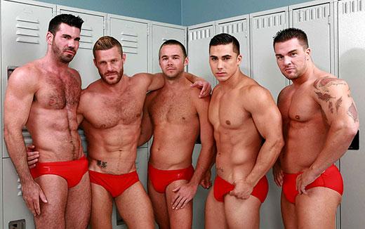 Guys in Red Speedo