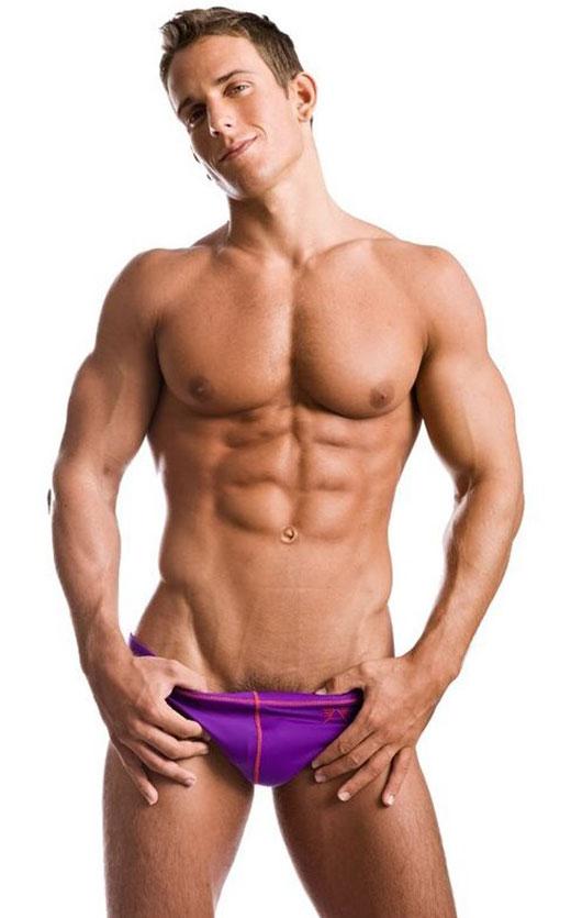 Speedo Model in Purple Speedo