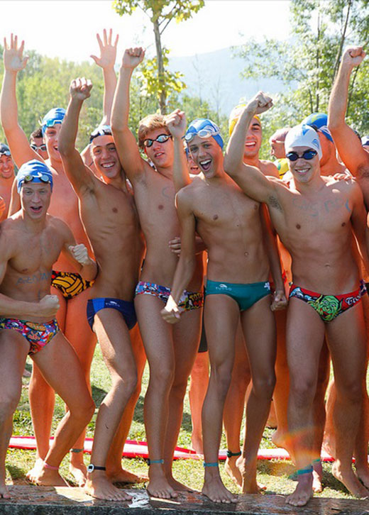 Boys wearing Turbo Swimwear