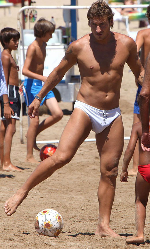 White Speedos on the Beach