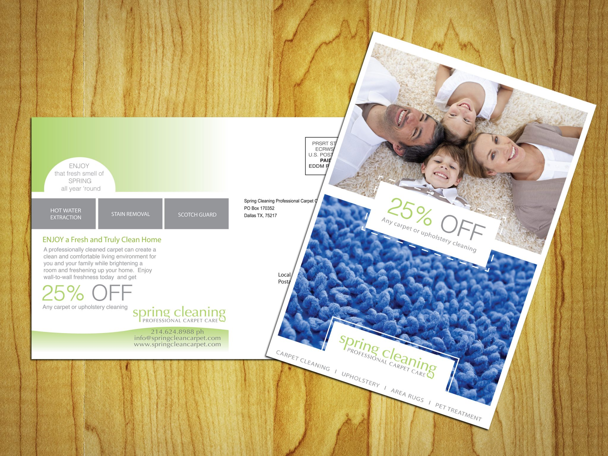 Postcard Example-Carpet cleaning Direct mail Postcard Example