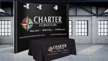 Tradeshow Table Cloth Design-Backdrop- Curved Wall