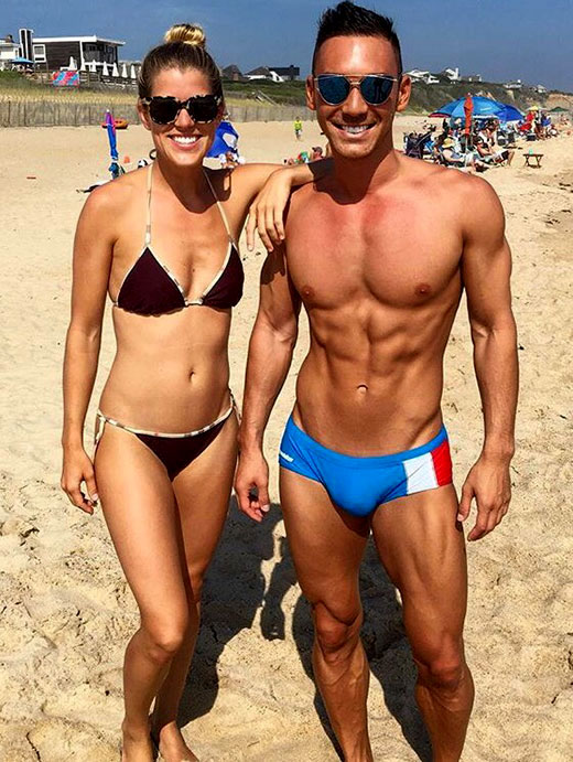 Beach Couple in Skimpy Swimsuits
