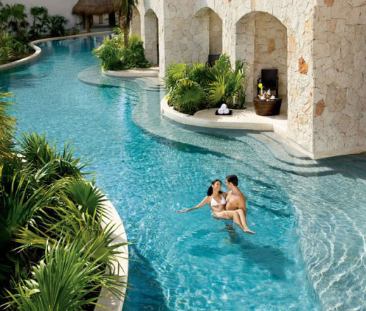Couple in Beautiful Pool
