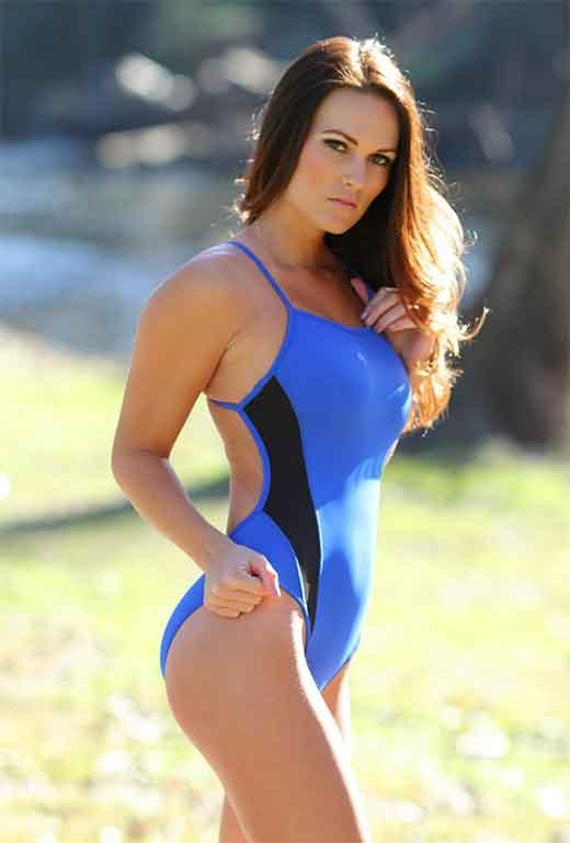 Brunette Swimmer