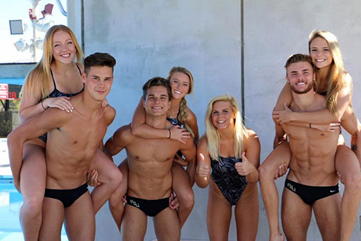 Co Ed College Swimming Team