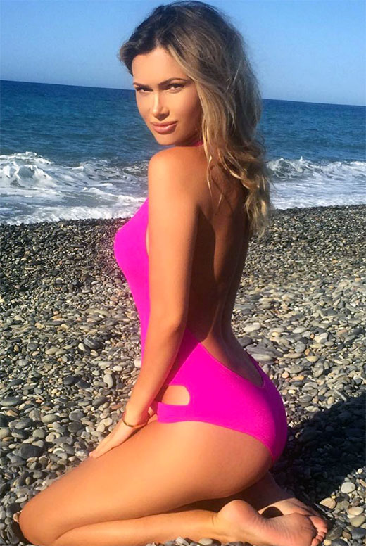 Ella Rose Pink One Piece Swimsuit