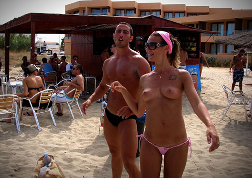 Speedos and Topless Chicks