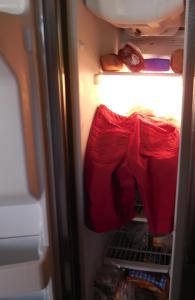 jeans in freezer