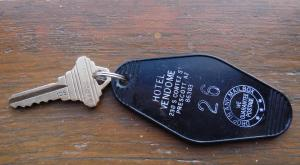 When you want the 1917 experience, you get a hotel key like the ones used in the olden days.