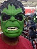 If you don't wear a monster mask while shopping at Walmart, you'll look out of place.