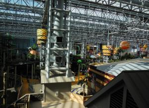 This is the Mall of America where you can shop for jeans or a watch and then go zip-lining over everyone's heads.