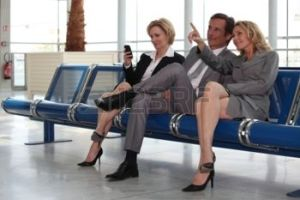 You can meet new people when you travel unless you're too busy staring at your phone like the lady on the far left.