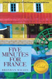 I write about my struggle with anxiety in my book Five Minutes For France.