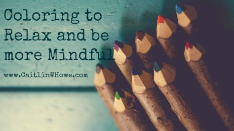 Coloring to relax and be more mindful