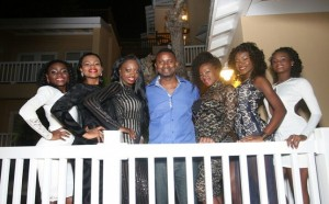 Black San girls with Anthony Morton of FLOW