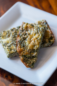 Crustless Calalloo (Amaranth) Quiche | Low Carb, Paleo, Gluten Free