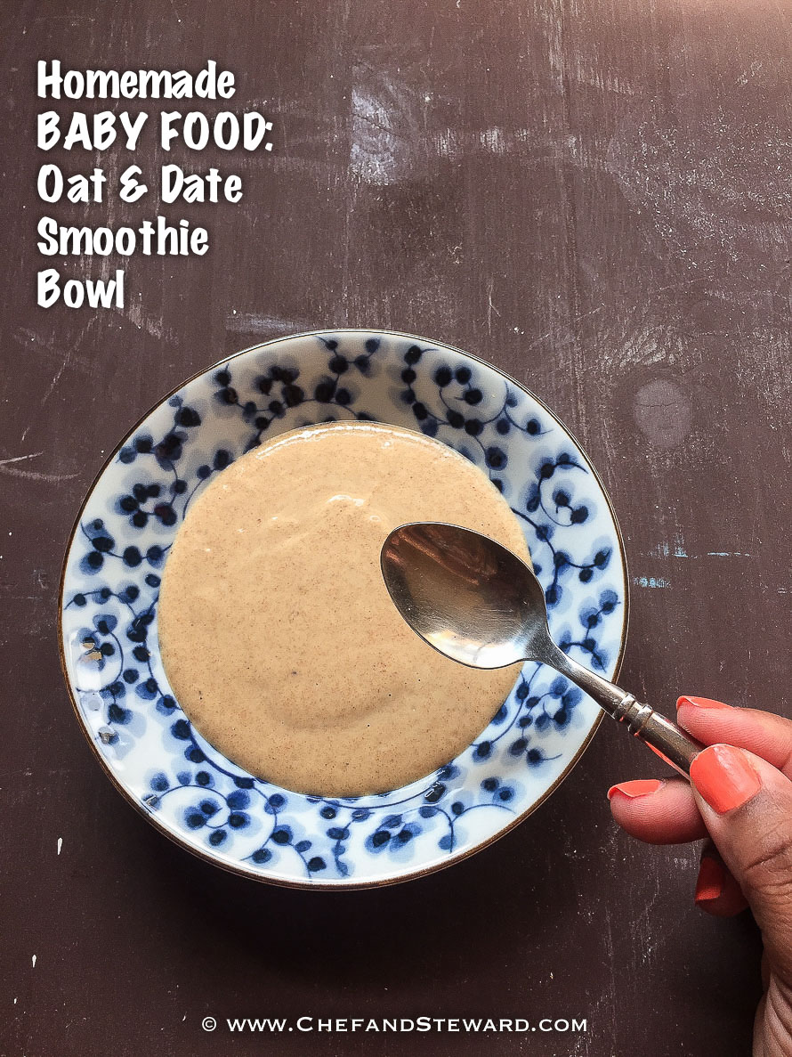Homemade Baby Food Oatmeal Date Smoothie GFX-1